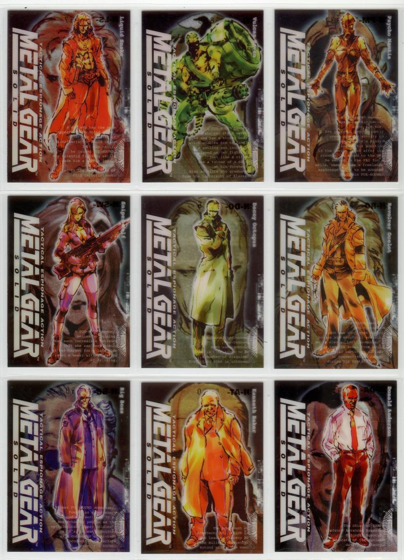 Metal Gear Solid Trading Cards 010-018