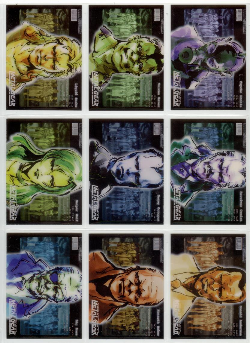 Metal Gear Solid Trading Cards 028-036