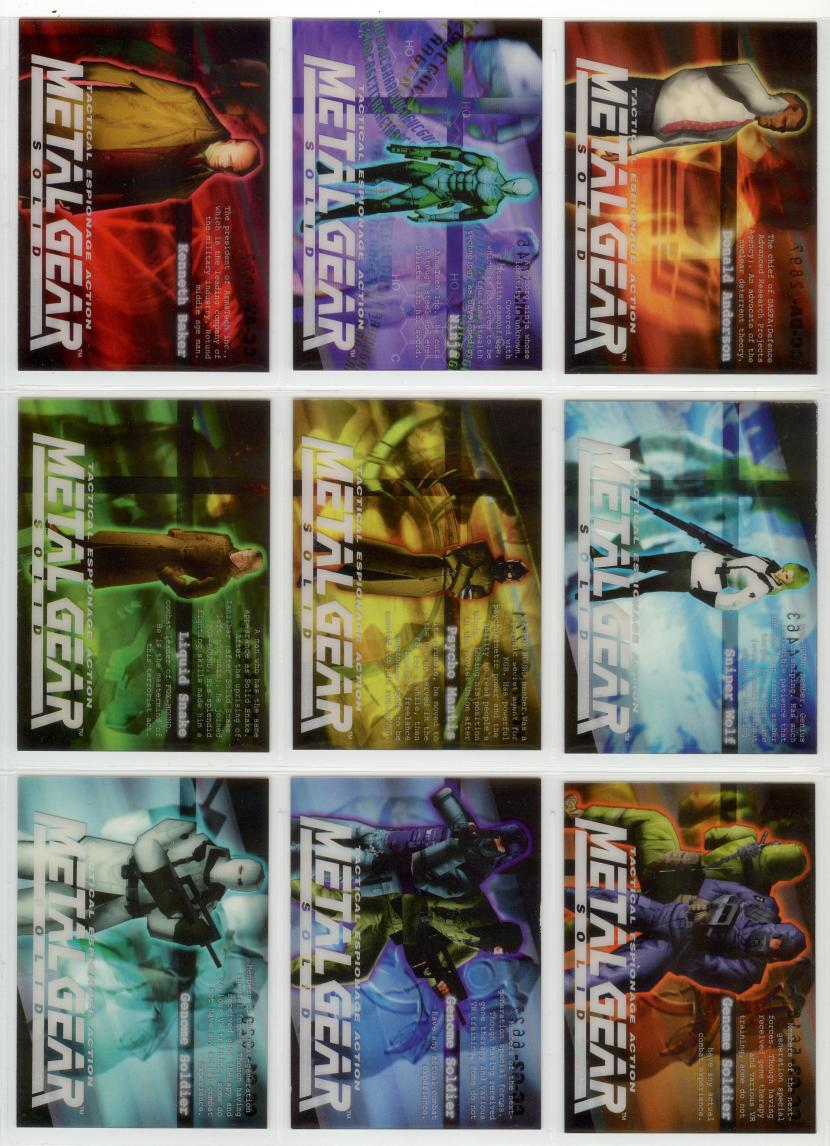 Metal Gear Solid Trading Cards 082-090