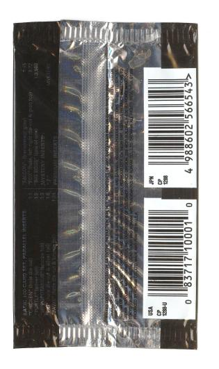 Metal Gear Solid Trading Cards Envelope Back